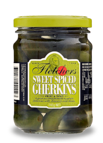 Fletchers Sweet Spiced Gherkins